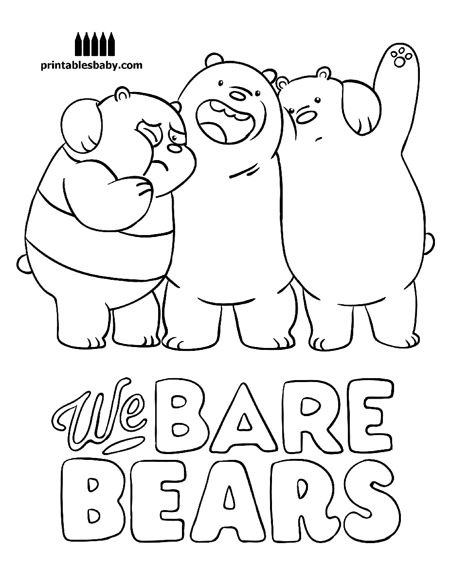 927x1200 Elegant We Bare Bears Printables Baby Free Cartoon Coloring Pages