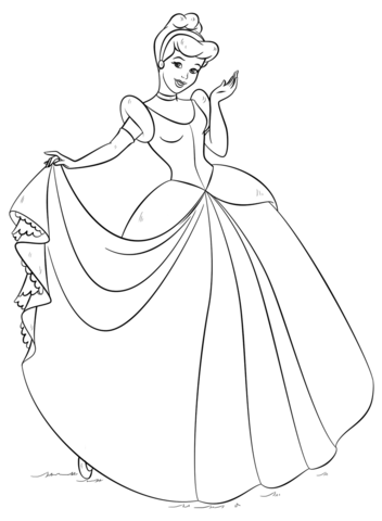 Baby Cinderella Coloring Pages At Getdrawings Free Download