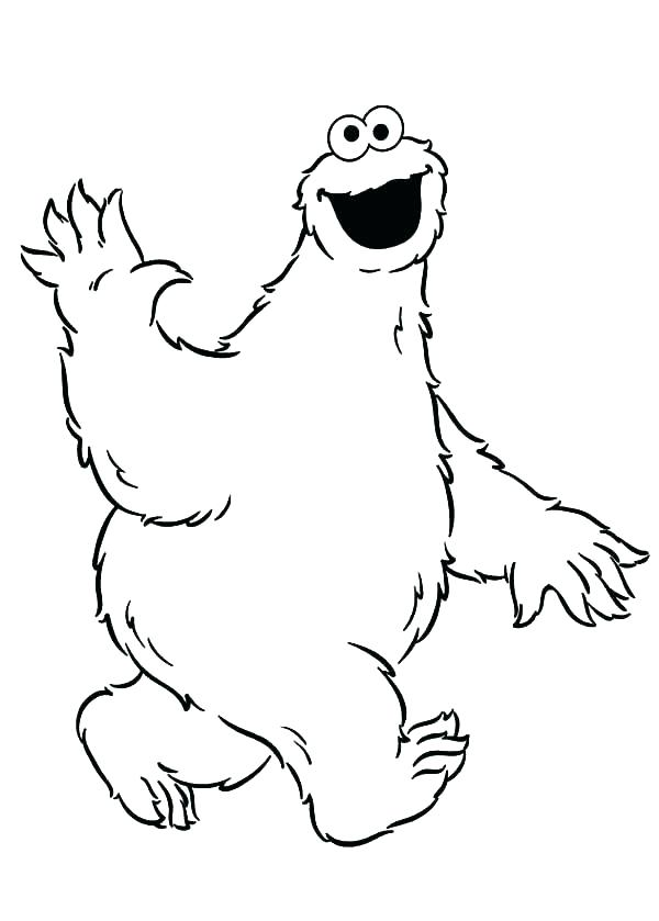 600x839 Cookie Monster Coloring Pages Cookie Monster Coloring Pages