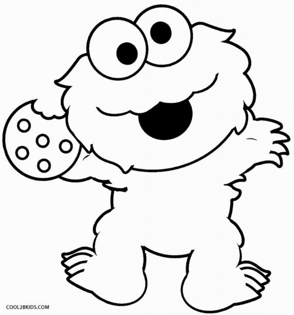 956x1024 Cookie Monster Coloring Pages Printable Free Newyork