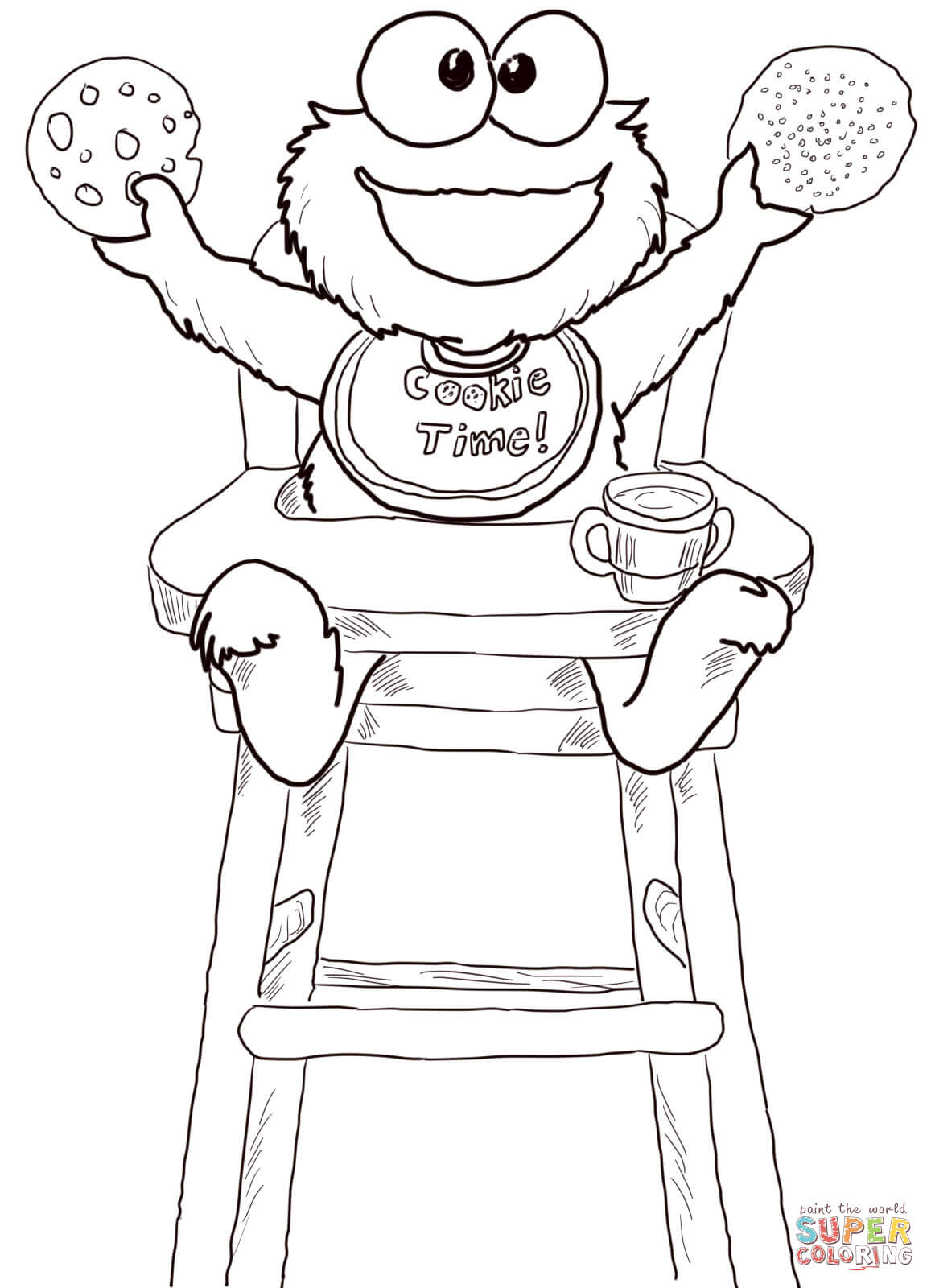 1157x1600 Cookie Time For Monster Coloring Page Free Printable And Pages