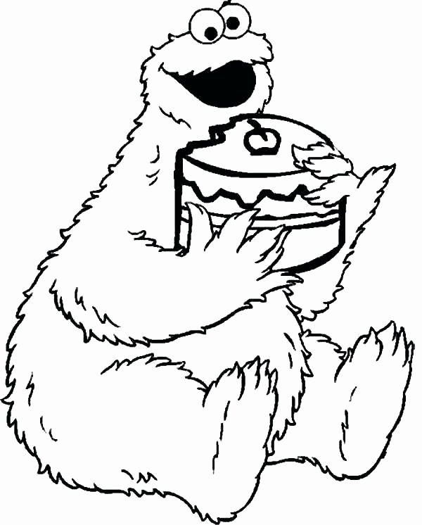 600x746 Monster Coloring Book Cookie Mon Coloring Pages Marvelous Baby
