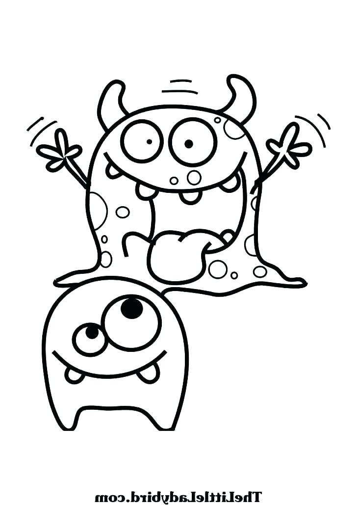 728x1029 Monster Coloring Pages Printable Printable Monster Coloring Pages