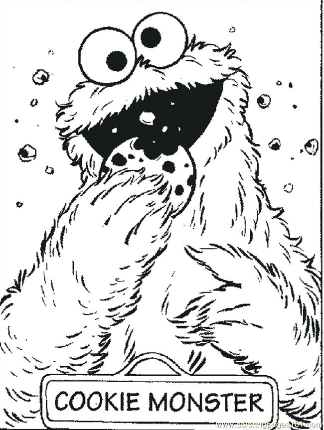 650x863 Sesame Street Coloring Pages Grover Character Big Bird Page Color