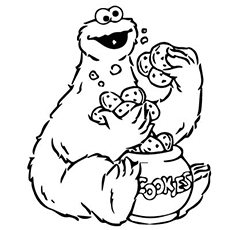 230x230 Top Free Printable Cookie Monster Coloring Pages Online