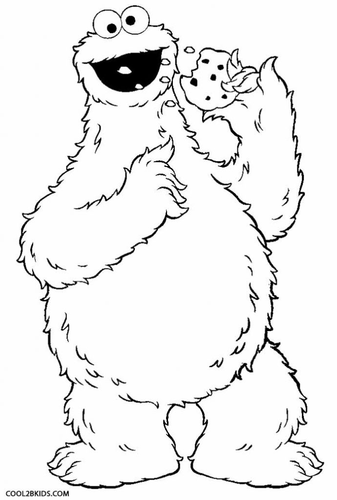690x1024 Cookie Monster Coloring Pages Printable Cookie Monster Coloring