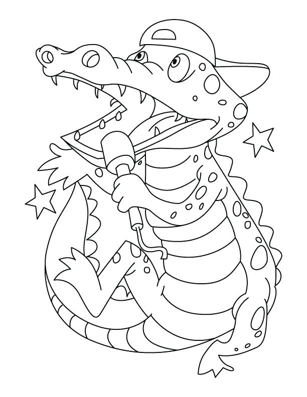 612x792 Coloring Crocodile Crocodile Coloring Page For Kids Online