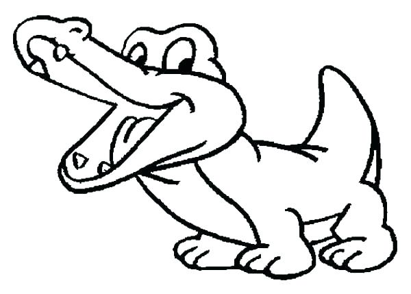 600x429 Crocodile Coloring Page Crocodile Coloring Pages Sheet Drawing