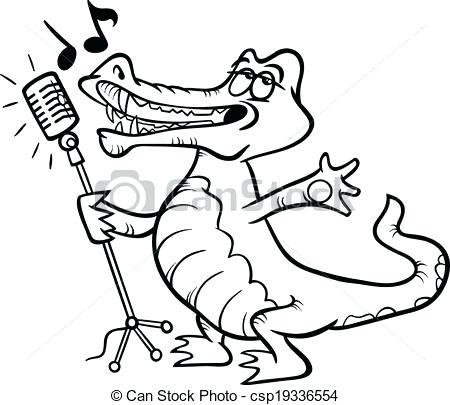 450x405 Crocodile Coloring Page Singing Crocodile Coloring Page Vector