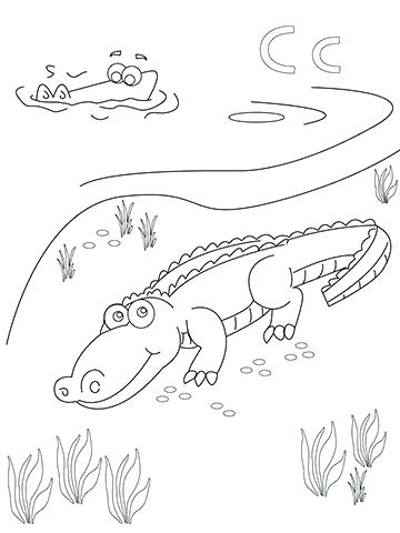 360x480 Crocodile Coloring Pages Crocodile Coloring Pages With Crocodile