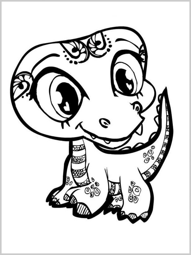 615x820 Baby Crocodile Coloring Pages Free Printable Coloring Pages