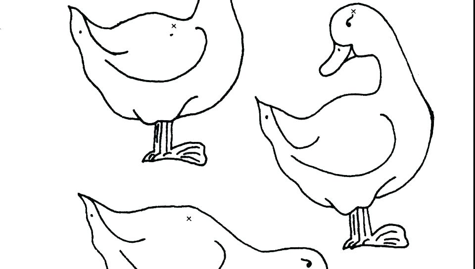 960x544 Ducks Coloring Pages Daffy Duck Coloring Pages Five Little Ducks