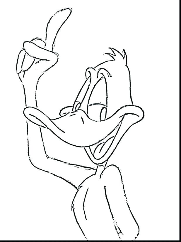 618x824 Daffy Duck Coloring Pages