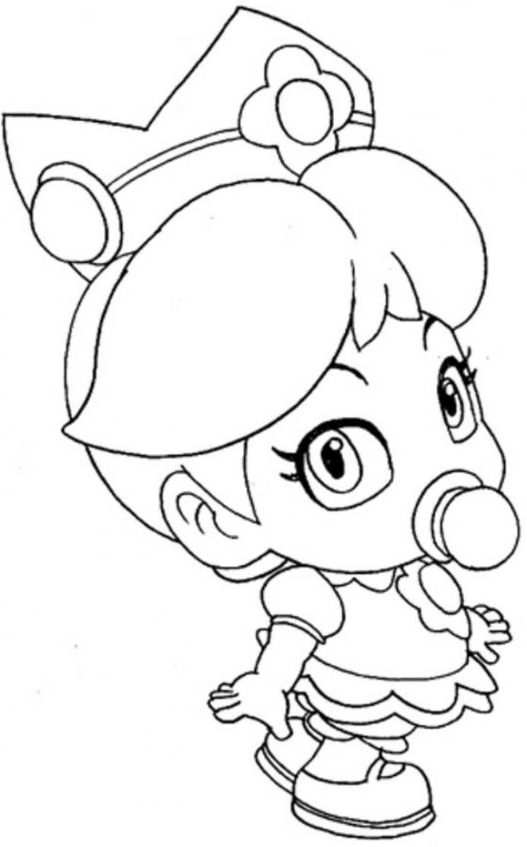 746x1200 Baby Princess Peach Coloring Pages