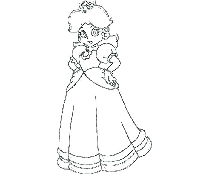 700x584 Daisy Coloring Pages Princess Baby Princess Daisy Coloring Pages