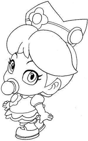 300x482 Princess Daisy Coloring Free Download