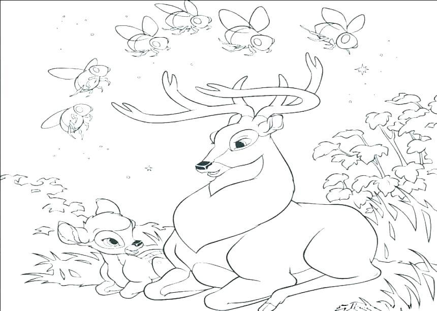 860x612 Printable Coloring Pages Reindeer Coloring Pages Deer Printable