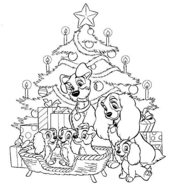 580x613 Disney Christmas Coloring Pages Free Cartoons, Celebrations