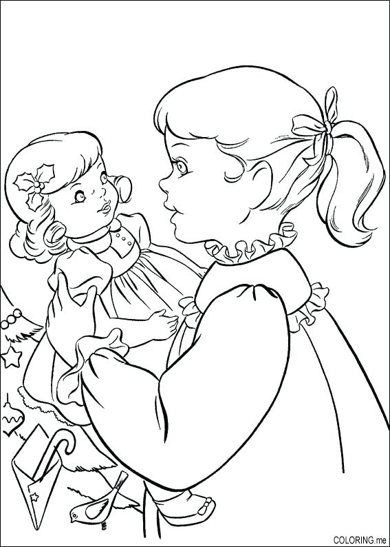 Baby Doll Coloring Page