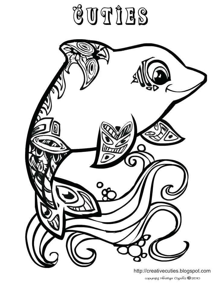 736x952 Creative Cuties Coloring Books And Stamps Baby Dolphin Coloring