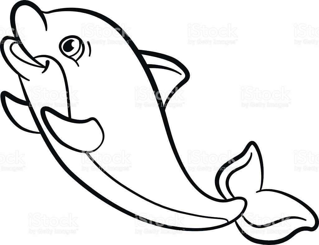 1024x786 Cute Baby Dolphin Coloring Pages