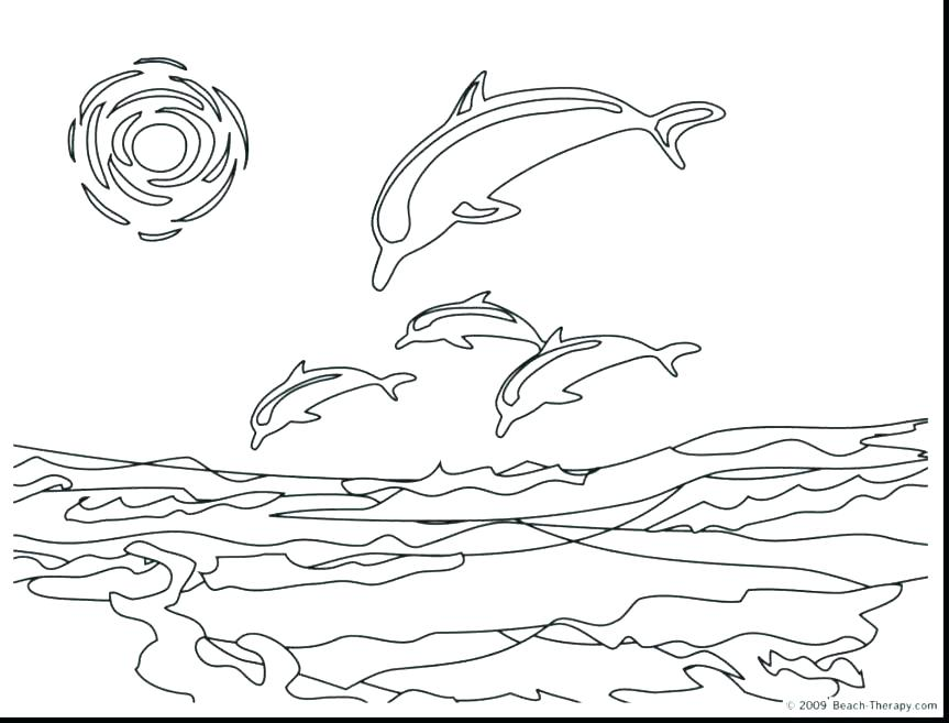 863x657 Printable Dolphin Coloring Pages Or Awesome Dolphins Coloring