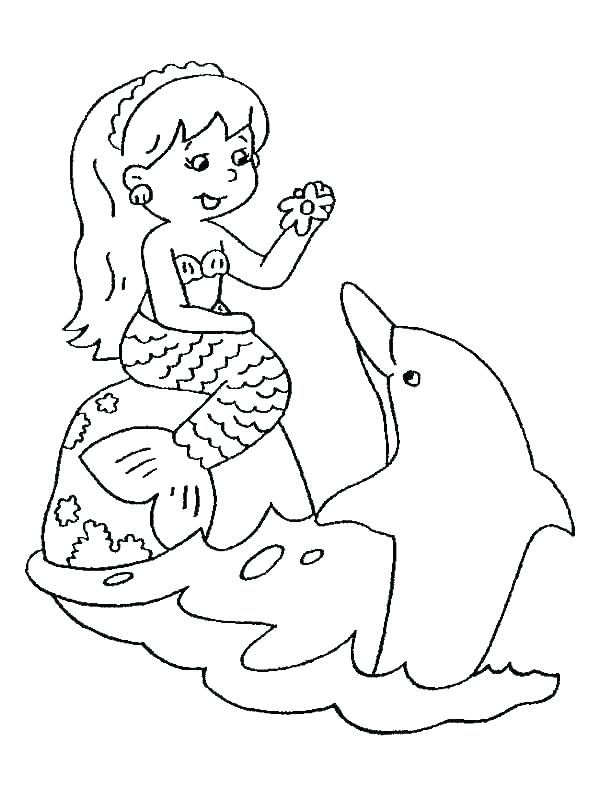 600x800 Coloring Pages Dolphins