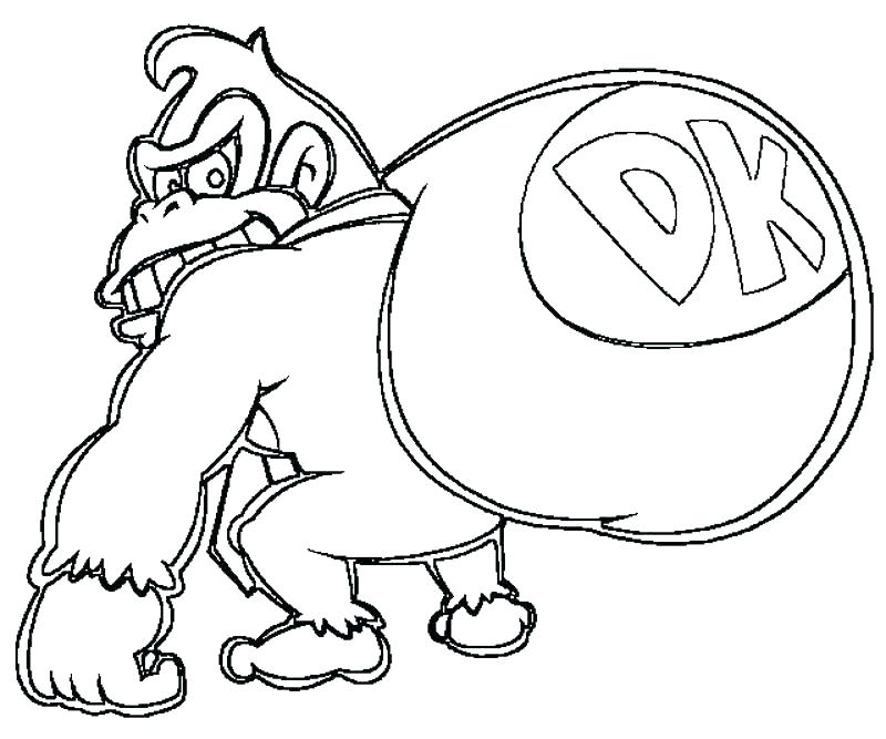 800x667 Donkey Kong Coloring Pages Baby Ride Donkey Coloring Pages Color