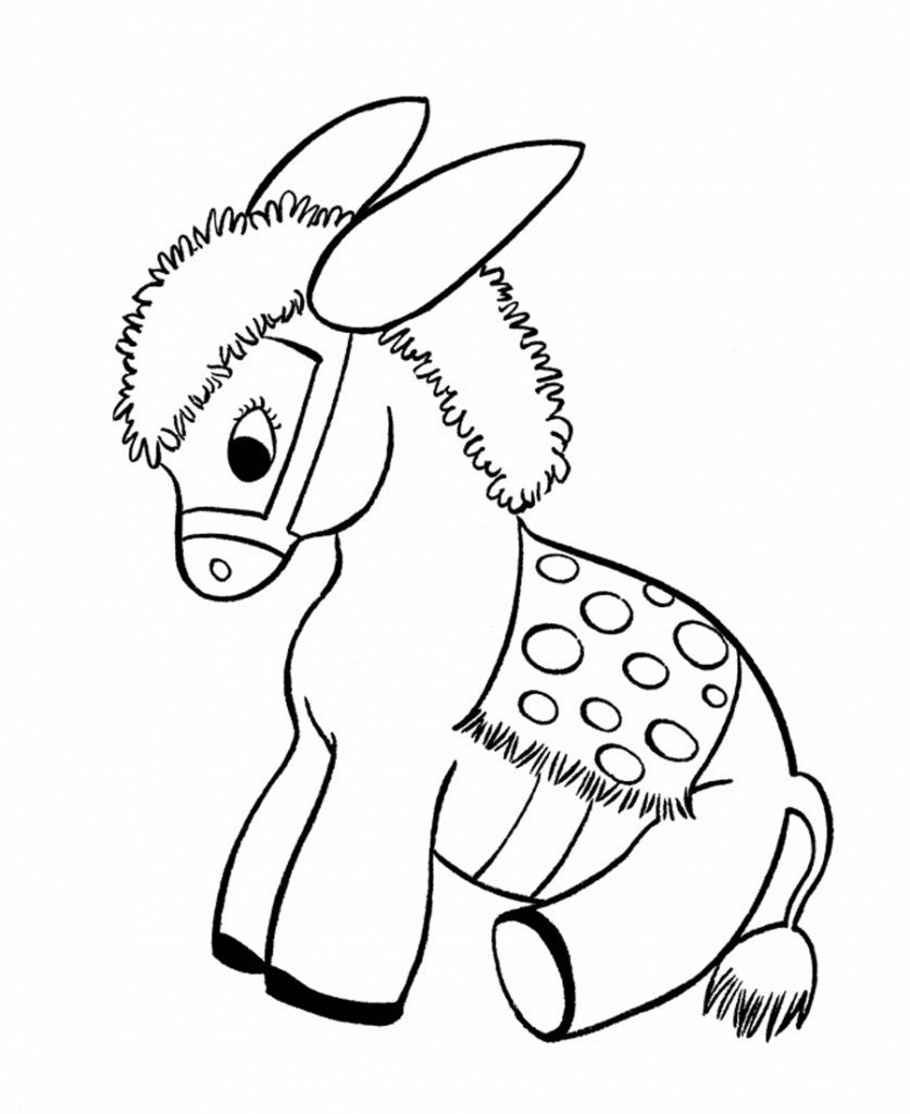 837x1024 Free Printable Donkey Coloring Pages For Kids Baby Donkey