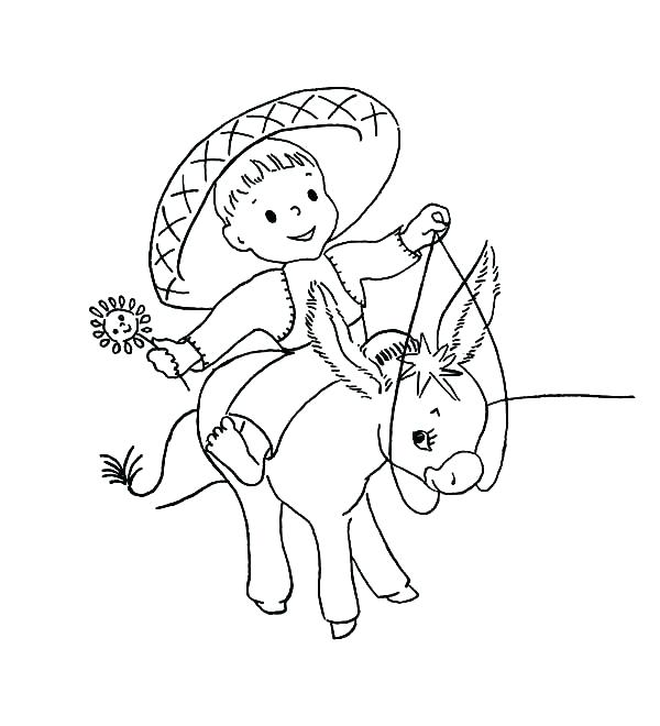 600x660 Jesus Riding On A Donkey Coloring Page Donkey Coloring Pages Baby