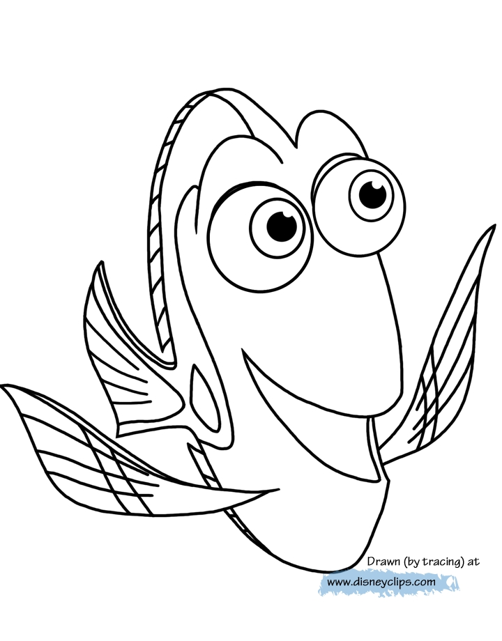 Coloring and Drawing: Baby Dory Finding Dory Coloring Pages