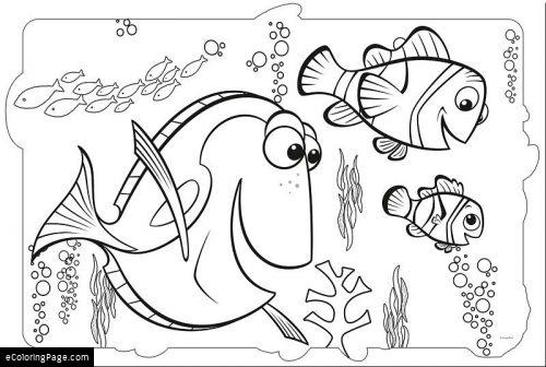 500x336 Dory Coloring Pages Finding Dory Coloring Page Ecoloringpage
