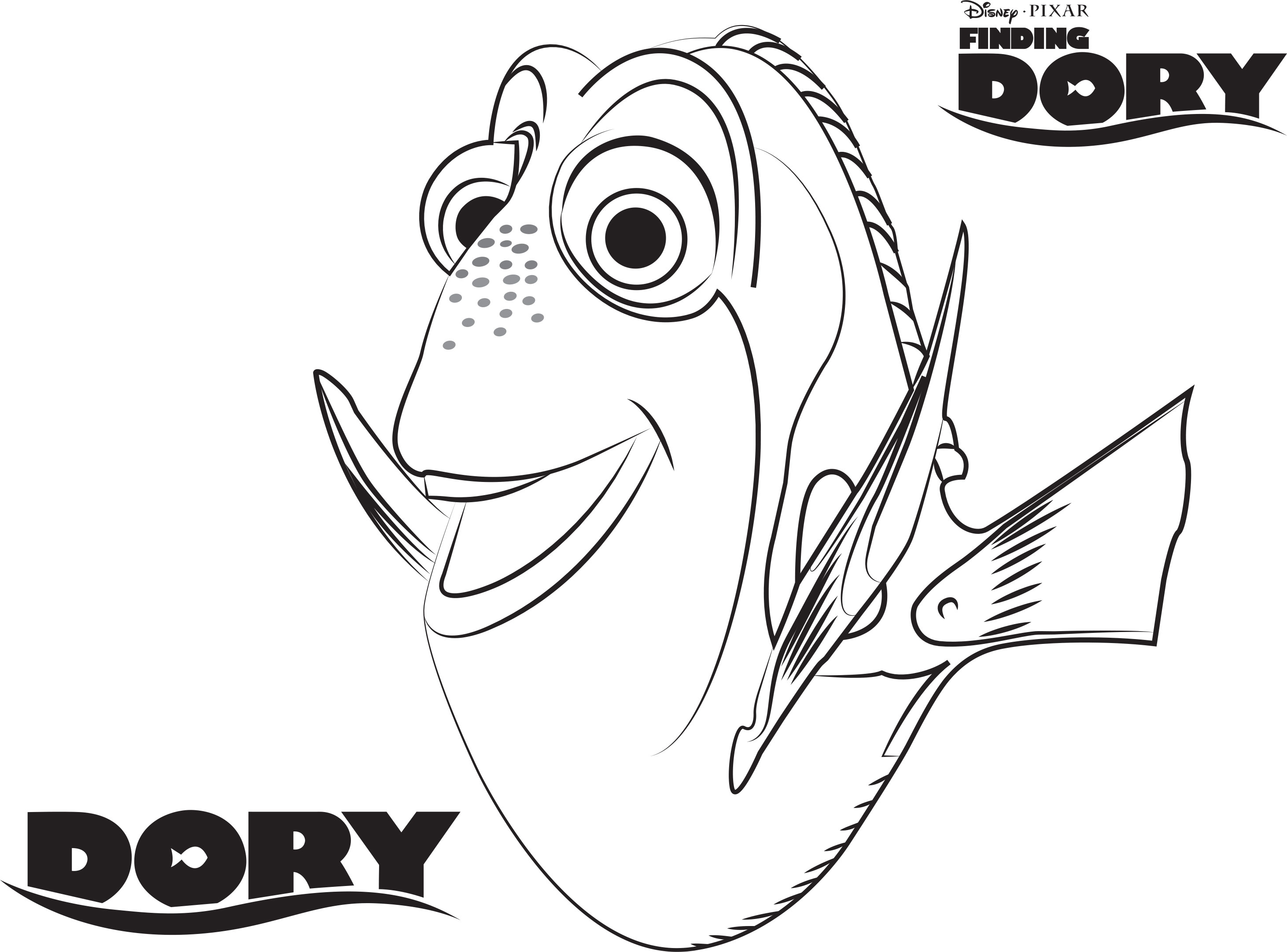 2923x2163 Dory Coloring Pages Fresh Dory Coloring Pages Best Coloring Pages