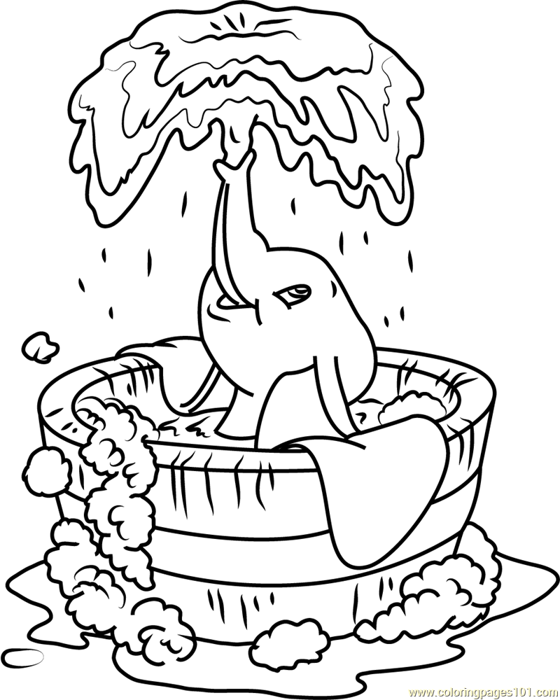 800x1000 Dumbo Coloring Pages
