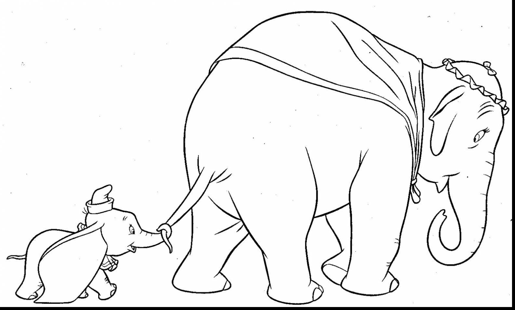 1731x1042 Dumbo Coloring Pages Disney Baby Simple