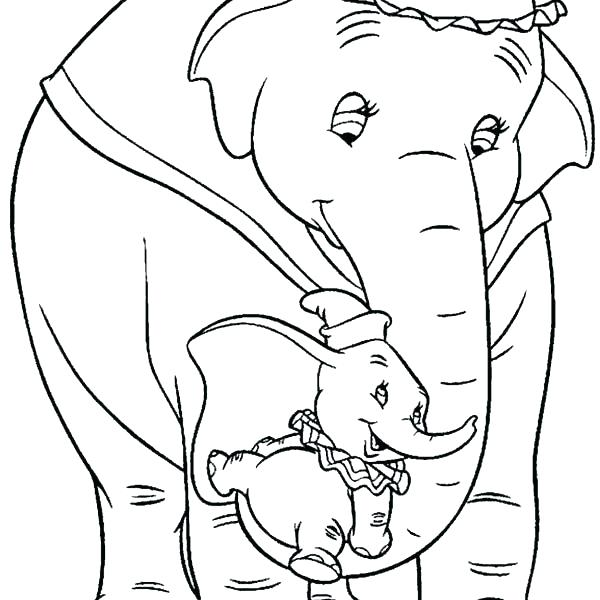 600x600 Dumbo Coloring Pages Plus Dumbo Coloring Pages Dumbo Coloring