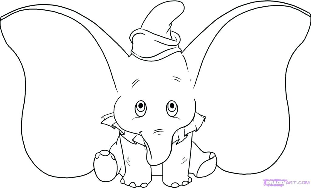 The best free Dumbo coloring page images. Download from 207 ...