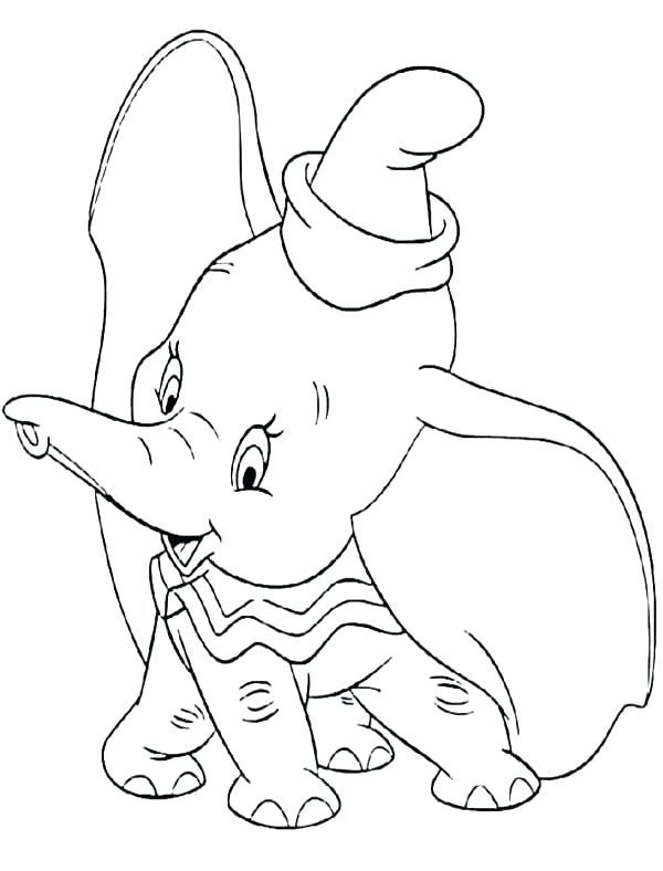 600x788 Baby Elephant Watercolor Tattoo Printable Coloring Dumbo Coloring