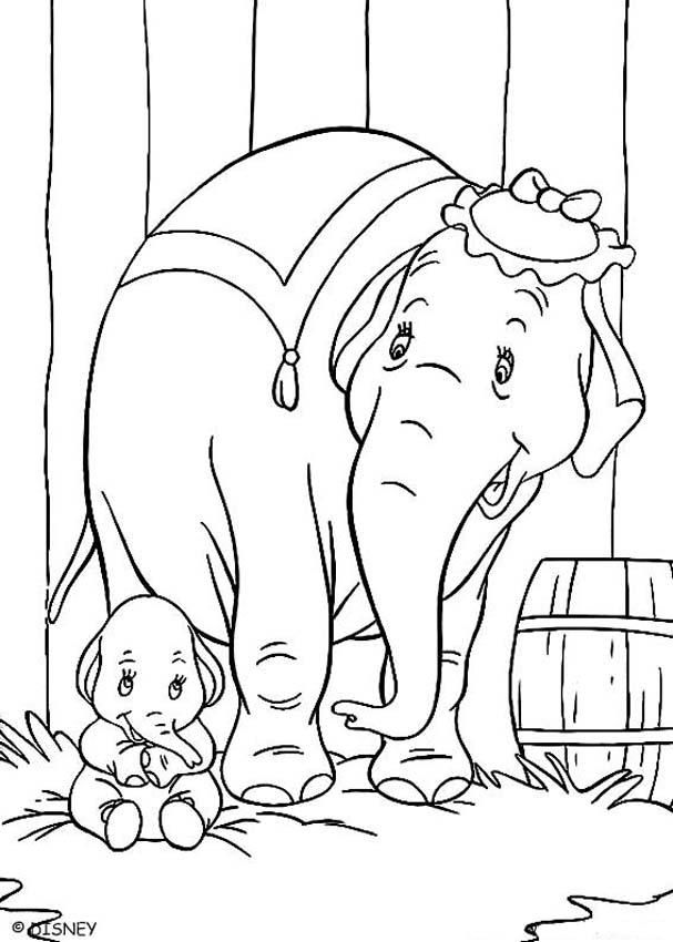 607x850 Disney Dumbo Coloring Pages