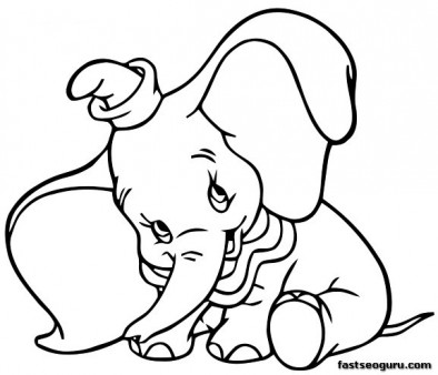 394x338 Disney Characters To Color Printable Coloring Pages Dumbo Shy