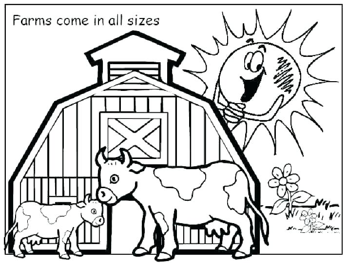 714x541 Farm Animal Coloring Pages Farm Animal Coloring Pages Baby Farm
