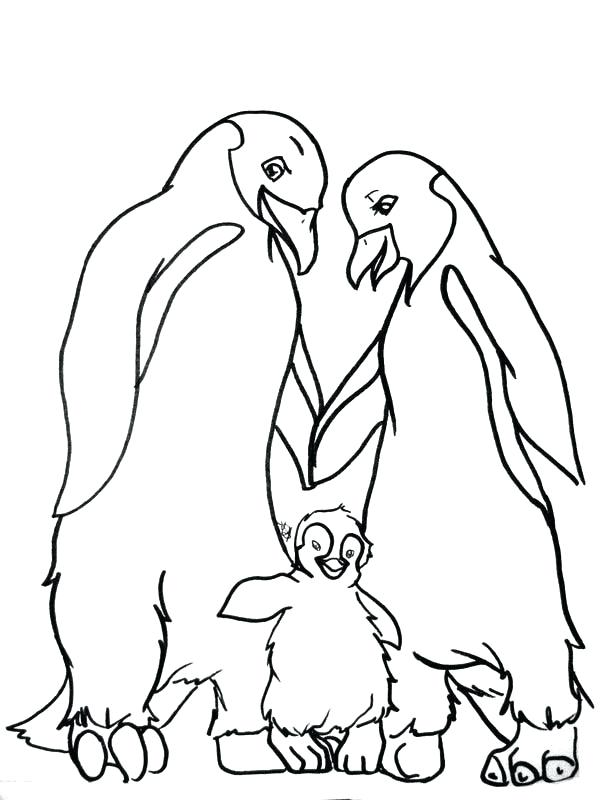600x800 Feet Coloring Pages Happy Mumble And His Parents In Baby Foot Page