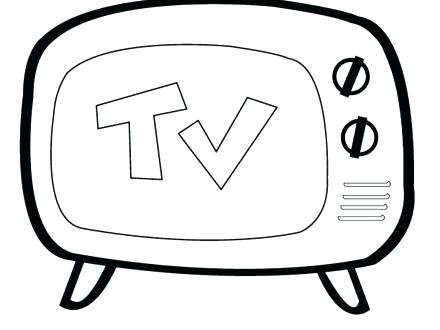 440x330 Tv Coloring Page Coloring Page Watch Coloring Pages Coloring Page