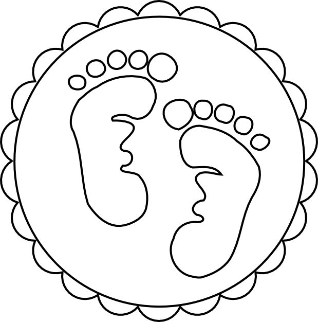 Baby Footprint Coloring Page