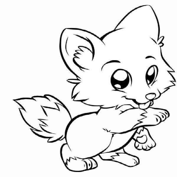 600x600 Baby Fox Coloring Pages