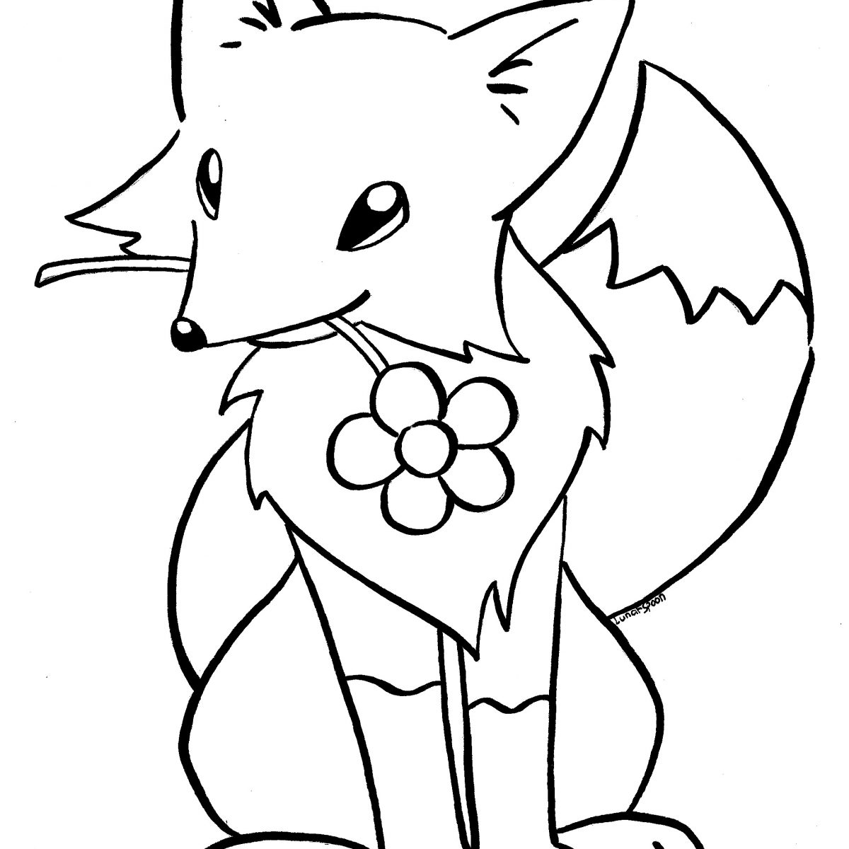 1200x1200 Fox To Color New Coloring Sheets
