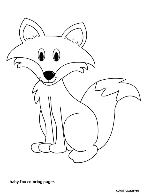 595x804 Baby Fox Coloring Pages