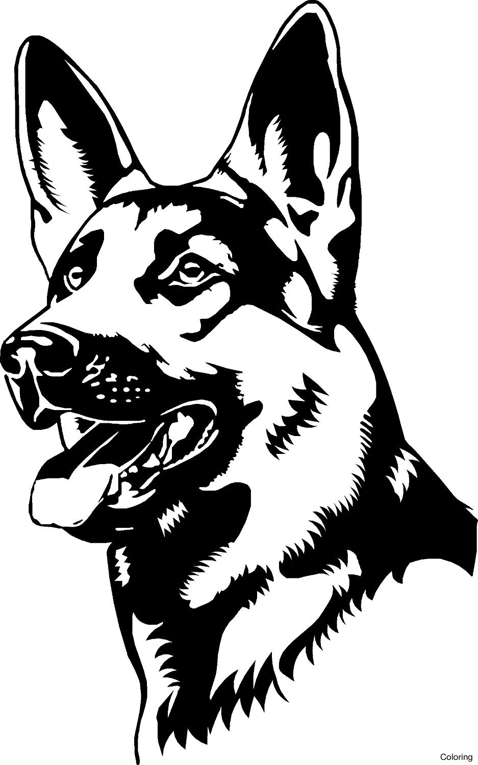 937x1500 Cool German Shepherd Coloring Pages Free Dogs