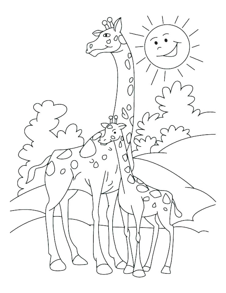 Baby Giraffe Coloring Pages At Getdrawings Com Free For Personal