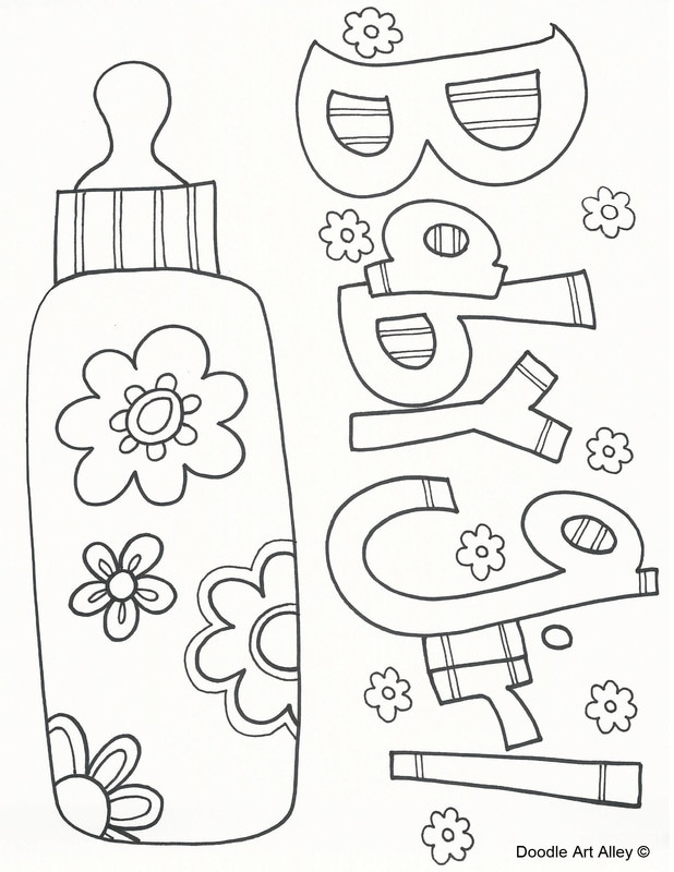 618x800 Baby Girl Coloring Pages Ba Coloring Pages Doodle Art Alley Blank